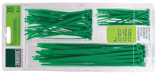Draper 60485 Assorted Nylon Garden Tie Packs CABLE Fixings Other Fixings Hardware