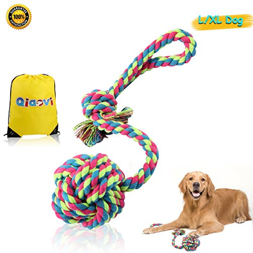 XL Dog Rope Toy for aggressive Chewer ,100% Cotton Interacti