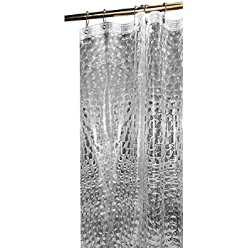 Mildew Resistant 3D Shower Curtain   Water Repellent U0026 Anti Bacterial With  Magnets