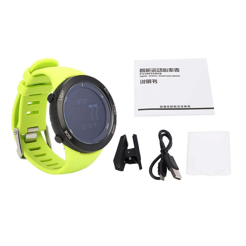 Alomejor Waterproof Sport Wristwatch Intelligent Watch Heart Rate Monitor Green