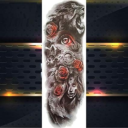 yyyDL 3D tatuajes temporales de tigre de brazo completo para ...
