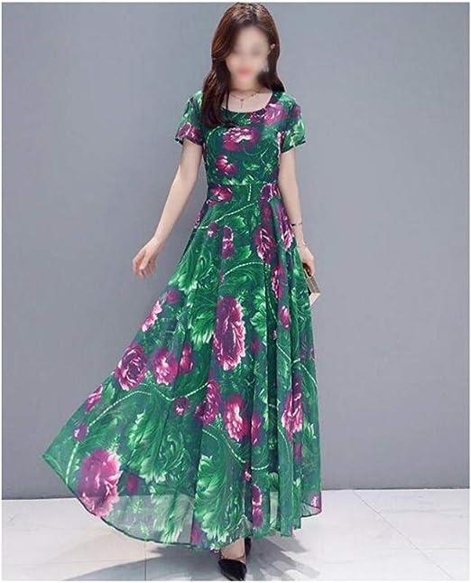 HEYG-Dress Vestir Moda Casual Vestido de Manga Larga con Falda ...