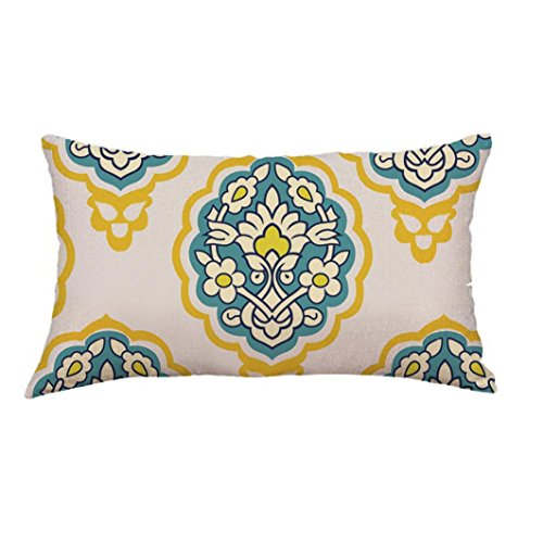 Geometric Lines Rectangle Waist Pillow Case Cushion Cover Sofa Bed Home Decoration (G)