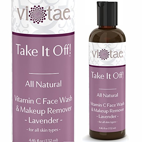 100% Natural Vitamin C Face Wash & Makeup Remover - 'Take It Off!' by Vi-Tae - For All Skin Types - 4.46oz