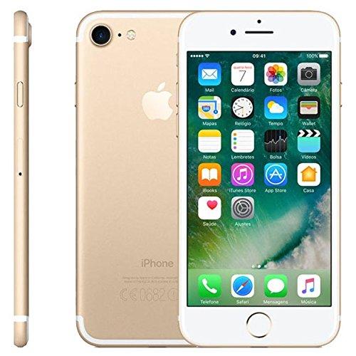 """iPhone 7 Apple Dourado com Tela de 4,7"""", 4G, 32 GB e Câmera de 12 MP"""