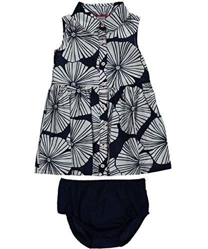 24 months navy Carters Baby Girls Ray Blossoms Dress with Diaper Cover