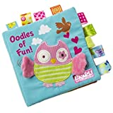 Owl Story Cloth Books, Baby's First Non-Toxic Fabric Soft Cloth Book Set Crinkle,Colorful,Squeak,Rattle Rustling Sound…