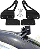 """GS Power 2007-2013 Chevy Silverado & GMC Sierra Curved LED Light Bar Brackets (choices of 50"""" / 52"""" / 54""""). Also for GM SUV: Chevrolet Avalanche, Suburban, Tahoe, Yukon. Mount at Roof Windshield"""