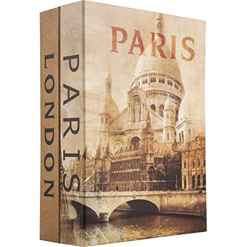 Barska Paris and London Dual Book Lockbox with Key Lock, Multi