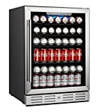 "Kalamera 24"" Beverage Cooler 175 Can Built-in or Freestanding Single Zone Touch Control"