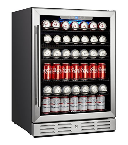"Price comparison product image Kalamera 24"" Beverage Refrigerator 175 Can Built-in or Freestanding Single Zone Touch Control"