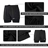 ARSUXEO Men's Active Training Running Shorts 2 in 1