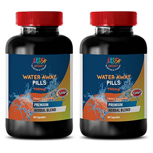 (antioxidant extreme - WATER AWAY PILLS 700MG - green tea powder - 2 Bottles (120 Capsules))