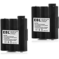 EBL Pack of 2 Midland AVP7 Replacement Rechargeable Battery Packs for Midland HH54, XT511 and GXT Series GMRS Radios (Batteries Combo)