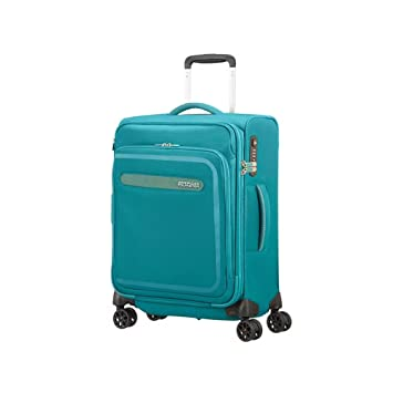American Tourister Airbeat - Spinner 55/20 Expandable Equipaje de Mano, 55 cm, 43 Liters, Azul (Sky Blue): Amazon.es: Equipaje