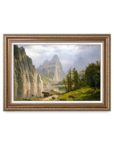 DECORARTS -Merced River, Yosemite Valley, Albert Bierstadt Classic Art Reproductions. Giclee Prints& Matching Frame for Home Decor 30x20 Framed Size: ()