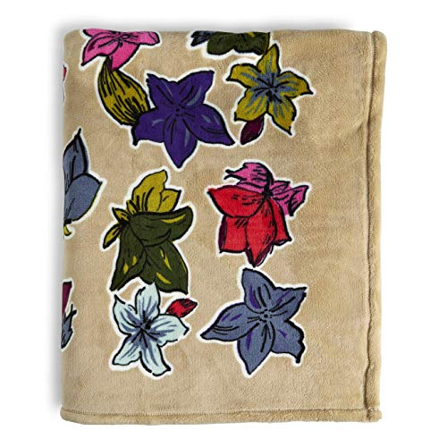 Vera Bradley Throw Blanket, Falling Flowers Neutral