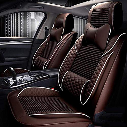 BMY Leather car seat cover for 5 seat leather seat, car seats cushions, 9 sets, brown: