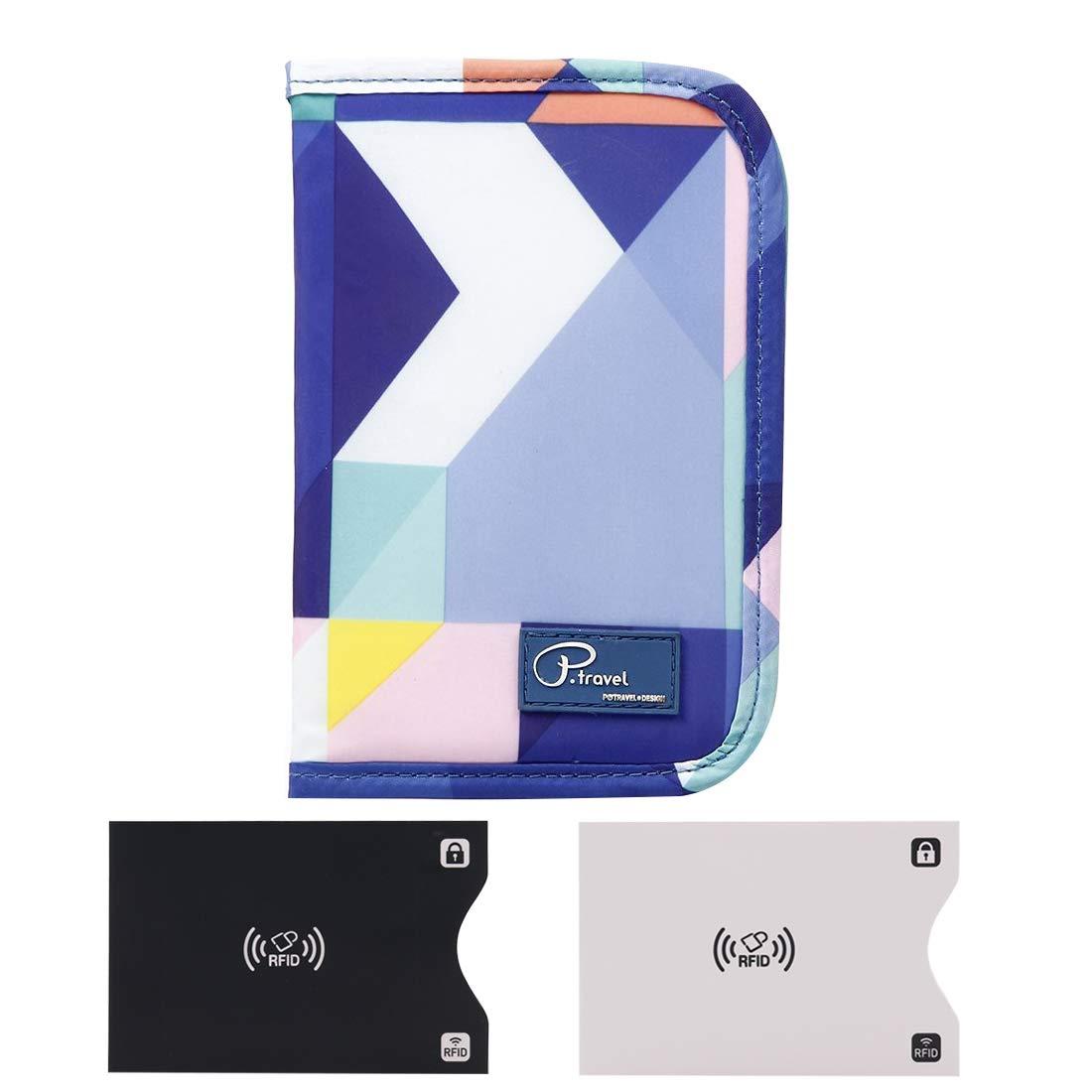 Billets Papiers Pochette Organisateur de Voyage pour les familles ou Voyageur avec les Carte Bleu RFID Blocage Passeport Portefeuille Monnaie