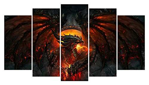 LMPTART(TM) 60x34 Inch Home Decor Art Print Dragon Deathw...