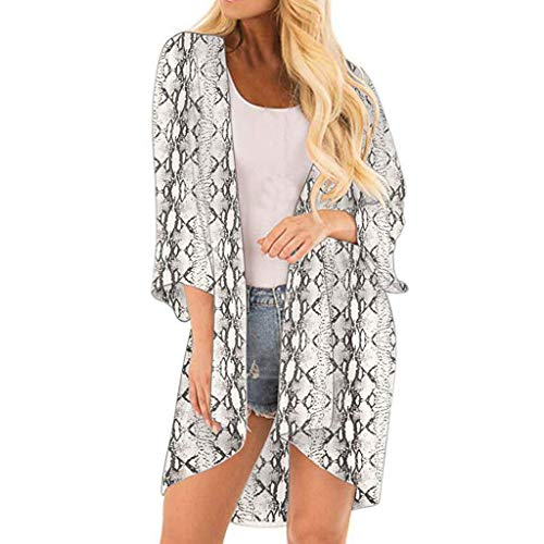 Women Serpentine Cover Casual Blouse Tops Kimono Bikini Cardigan Capes Cover