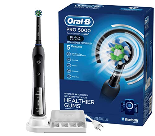Oral-B Pro 5000 Smartseries Electric Toothbrush With Bluetooth Connectivity, Black Edition (Powered...