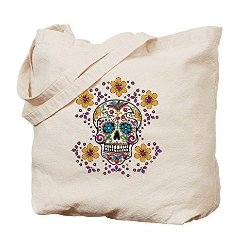 CafePress–azúcar calavera blanco–Gamuza de bolsa de lona bolsa, bolsa de la compra