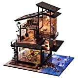 Dreamyth- 3D Wooden DIY Miniature House Furniture LED House Puzzle Decorate Creative Gift