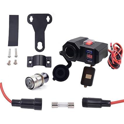 Amazon.com: Kit de cargador USB dual para motocicleta, barco ...