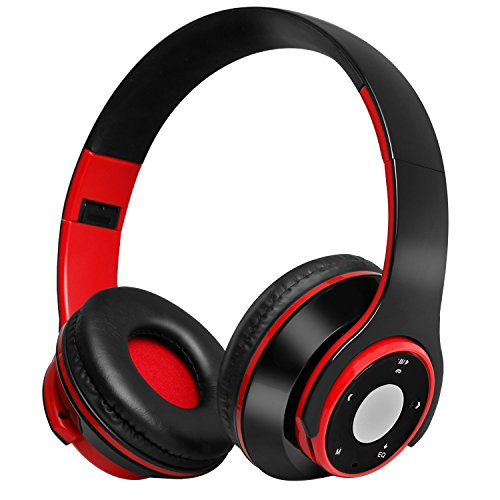 Bluetooth Headphones, PTUNA Foldable Wireless Bluetooth Headsets Over Ear Headphones with Mic for Cell Phones/PC/TV/Laptop/iPad/Tablets, Noise Cancelling, Hi-Fi Stereo, TF Card/FM Radio/Wired Mode