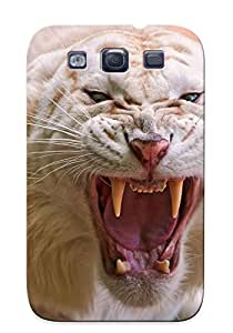 New Style Tpu S3 Protective Case Cover/ Galaxy S3 Case - Angry White Tiger