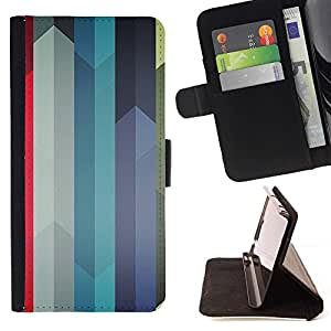 DEVIL CASE - FOR Samsung Galaxy Core Prime - Colorful Swords Lines - Style PU Leather Case Wallet Flip Stand Flap Closure Cover