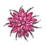 CINDY XIANG Crystal Flower Brooches Women Zinc Alloy Brooch Pin Fashion Jewelry Dress Coat Broches Bijouterie