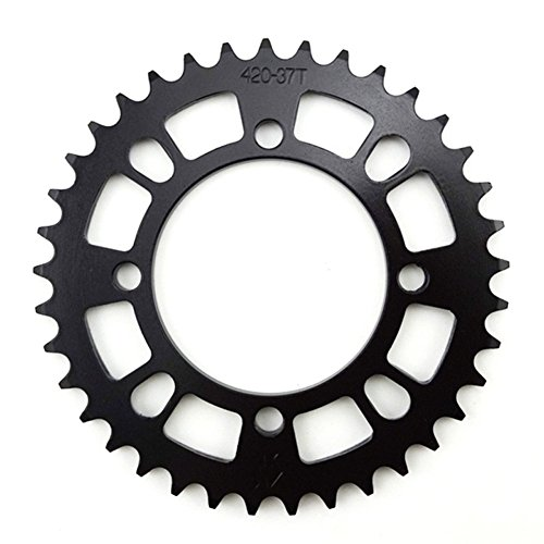 TC-Motor 420 76mm 37 Tooth 37T Black Rear Chain Sprocket For Chinese Pit Dirt Trail Bike Motorcycle Motocross 50cc-160cc