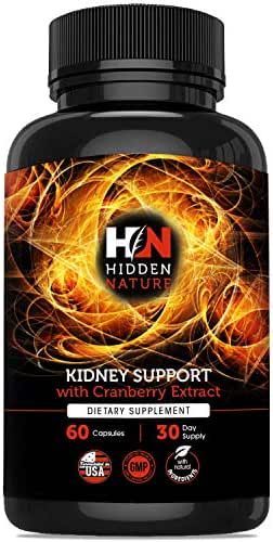 Kidney Cleanse Support with Cranberry Supplement for Bladder Health, Urinary Tract, Kidney Cleanse & Detox | Advanced Herbs Formula with Astragalus, Uva Ursi & more | 60 Veggie Capsules