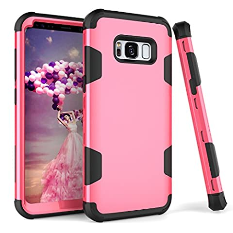Samsung Galaxy S8 Plus Case, NOKEA Full-Body Protective Case Hybrid Duty Shockproof Ultra Slim Bumper Cover 3 in 1 Shield Soft TPU Hard PC Dual Layer Impact Protection-S8+ (Rose (Pink Camo Otterbox Iphone 4s Case)