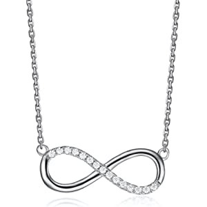 6f1bf8dab Serend SPILOVE Infinity Necklace Lucky Number 8 Pendant Link Chain  Silver-Tone, Gifts for