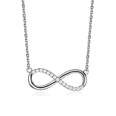 Amazon serend infinity necklace lucky number 8 pendant link serend infinity necklace lucky number 8 pendant link chain silver tonevalentines day gifts aloadofball Choice Image