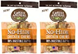 Earth Animal 2 Packages of No-Hide Chicken Chews, 4-Inch Length (2 Chews Per Pack/4 Total)