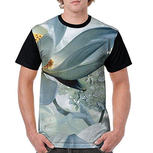 ZhiqianDF Men Floral Art Design Fashion Jogging Black T Shirts 3X Short Raglan - Pack Sixers Family