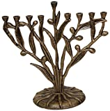 Cheap Menorah Olive Tree Design – Rustic Brass
