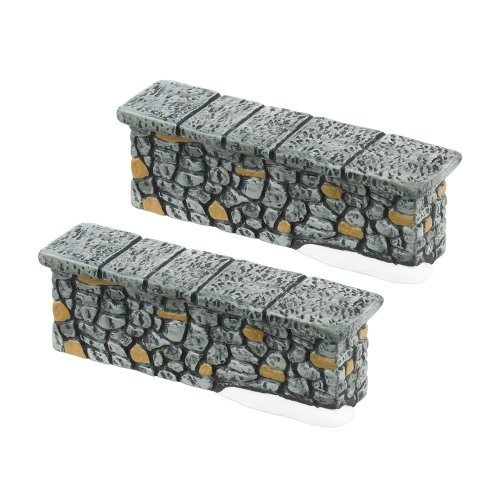 (Department 56 Accessories for Villages Woodland Stone Wall, General Accessory, (Set of 2))