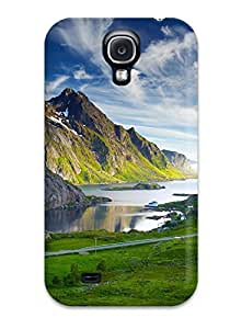 New Premium Flip Case Cover Nordic Landscapes Skin Case For Galaxy S4