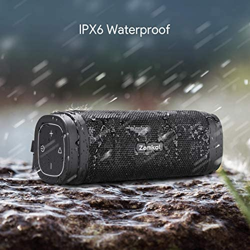 Bluetooth Speaker, Zamkol ZK306 Waterproof Bluetooth Speakers Portable Wireless & 30W Stereo Sound, with EQ Enhanced Bass, 5200mAh, Built-in Mic,TWS, Bluetooth 5.0,Suitable for Outdoor, Gifts