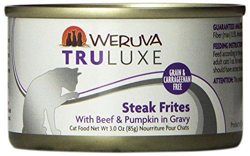 New Zealand Beef Lamb (Weruva's TruLuxe Cat Food, Steak Frites with Beef & Pumpkin in Gravy, 3oz Can (Pack of 24))