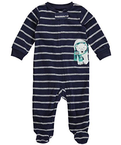 Carters Stripy Footed Coverall Months
