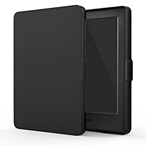 "MoKo Case for Kindle E-reader (8th Generation 2016) - The Thinnest and Lightest SmartShell Cover with Auto Wake/Sleep for Amazon Kindle (6"" Display, 8th Gen 2016 Release), BLACK"