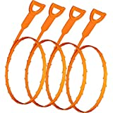 FATHER.SON Hair Drain Clog Remover Drain And Snake Cleaning Tool 4 pcs
