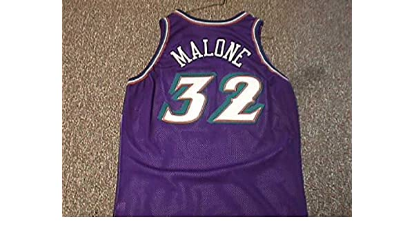 Karl Malone Utah Jazz 1996-2003 Utah Jazz Game Worn Jersey at Amazon s  Sports Collectibles Store 6634c1e03