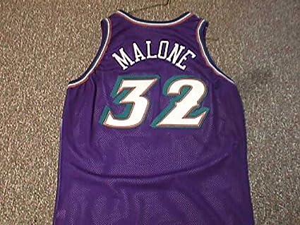 super popular 0e7ee a8eff Karl Malone Utah Jazz 1996-2003 Utah Jazz Game Worn Jersey ...